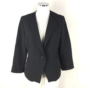Eileen Fisher S Black Silk Blend Jacket Blazer